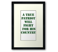 True Patriot Framed Print