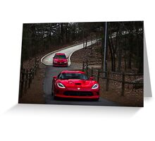 Viper Vs Evo 8 Greeting Card