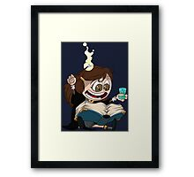 Hermione reads a Book Framed Print