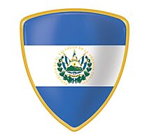 El Salvador Flag and Coat of arms Photographic Print