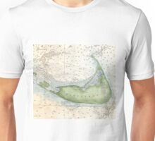 Vintage Map of Nantucket (1857) Unisex T-Shirt