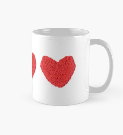 Red Love Hearts in a Row Mug