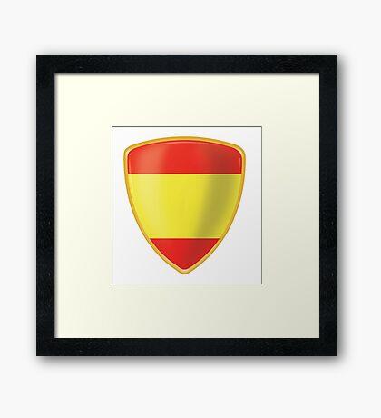 Bandera de España Framed Print