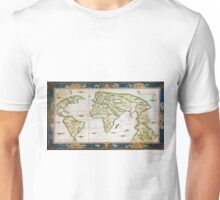 Vintage Map of The World (1566) Unisex T-Shirt