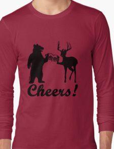 Bear, deer, beer, & cheers Long Sleeve T-Shirt