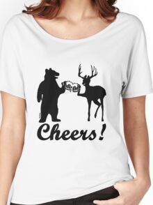 Bear, deer, beer, & cheers Women's Relaxed Fit T-Shirt
