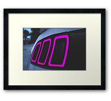 2013 Mustang Gt Tail Light Framed Print