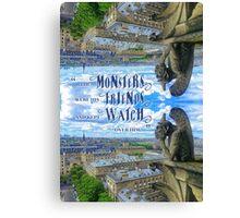 Monsters Were His Friends Notre-Dame Paris Gargoyle Canvas Print