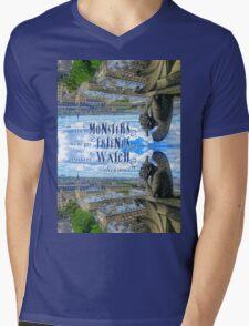 Monsters Were His Friends Notre-Dame Paris Gargoyle Mens V-Neck T-Shirt