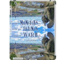 Monsters Were His Friends Notre-Dame Paris Gargoyle iPad Case/Skin