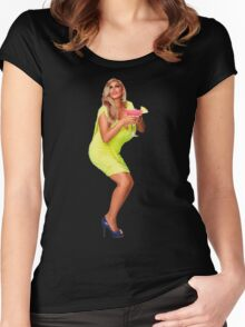 Party first, worry later Women's Fitted Scoop T-Shirt