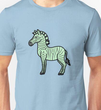 Light Green Zebra with Black Stripes Unisex T-Shirt
