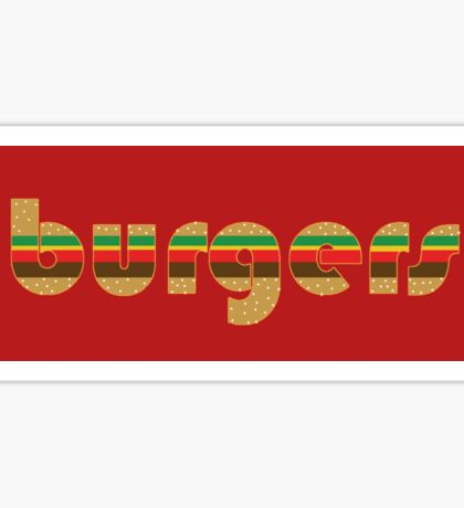 Burgers Supreme Sticker