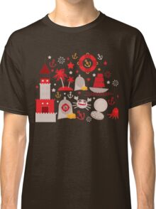 Red lighthouse Classic T-Shirt