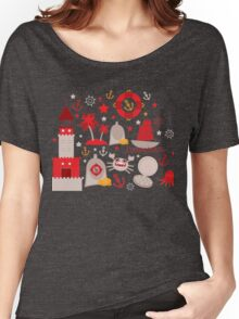 Red lighthouse Women's Relaxed Fit T-Shirt