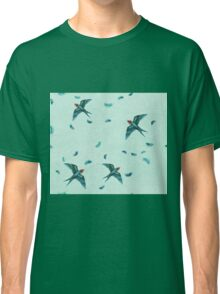 Swooping Swallows in the Air, Pale Mint Classic T-Shirt