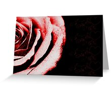 Bold Rose - Red Greeting Card