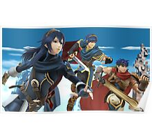 Super Smash Bros. Fire Emblem - Lucina, Marth, Ike Poster