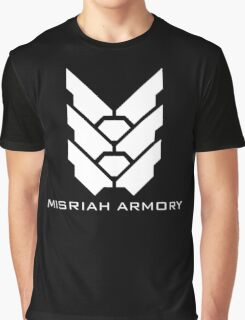 Halo - Misriah Armory (White Logo) Graphic T-Shirt