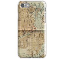 Vintage Map of Ottawa Canada (1894) iPhone Case/Skin