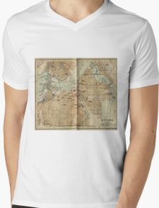 Vintage Map of Ottawa Canada (1894) Mens V-Neck T-Shirt