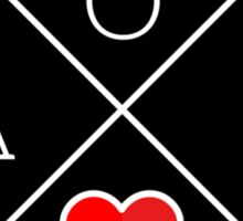 aoii circle heart Sticker