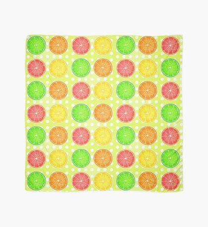 Citrus Fruits and Polka Dots Scarf