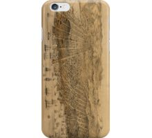 Vintage Pictorial Map of San Francisco (1868) iPhone Case/Skin