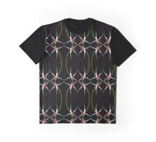 Exotic Native Orchid Mirror Design Graphic T-Shirt