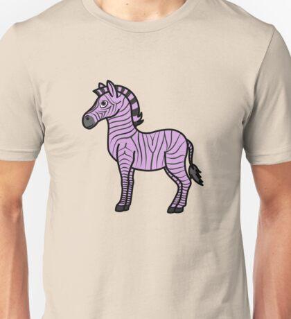 Light Purple Zebra with Black Stripes Unisex T-Shirt