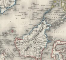 Vintage Map of Indonesia and The Philippines Sticker