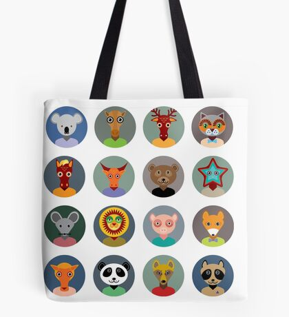 Animal faces 2 Tote Bag