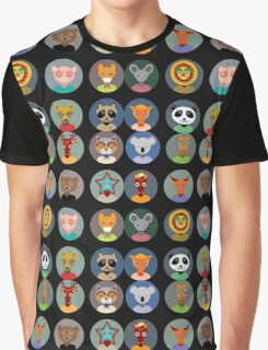 Animal faces 2 Graphic T-Shirt