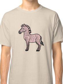 Light Pink Zebra with Black Stripes Classic T-Shirt