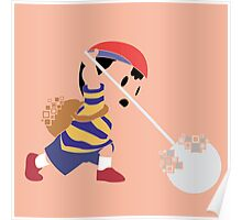 Ness Pixel Silhouette Poster