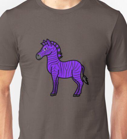 Purple Zebra with Black Stripes Unisex T-Shirt