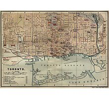 Vintage Map of Toronto (1894) Photographic Print
