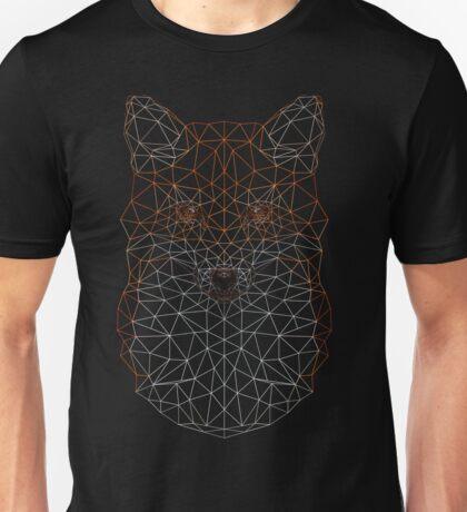 Wireframe Low-poly Geometric Fox Unisex T-Shirt