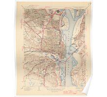 Vintage Map of Alexandria Virginia (1945) Poster