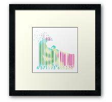Surf barcode Framed Print
