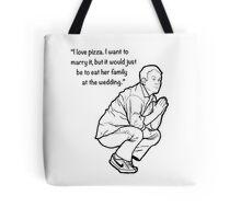 Mike Birbiglia Pizza Larger Tote Bag