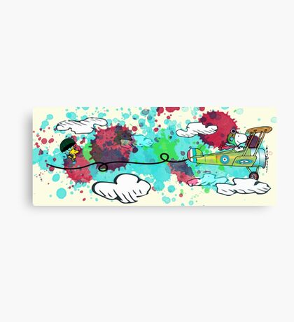 Snoopy Colorful Flying Ace Canvas Print