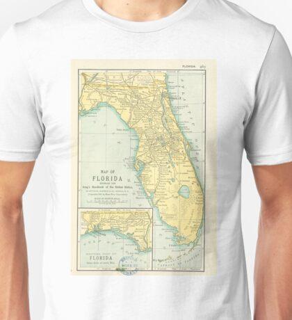 Vintage Map of Florida (1891) Unisex T-Shirt