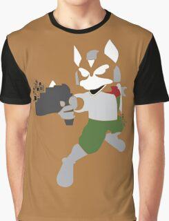 Fox Pixel Silhouette Graphic T-Shirt