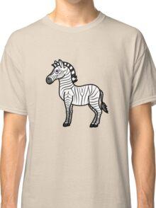 White Zebra with Black Stripes Classic T-Shirt