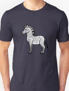 White Zebra with Black Stripes Unisex T-Shirt