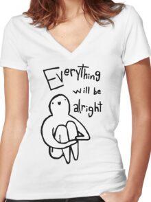Inspirational Guy Women's Fitted V-Neck T-Shirt