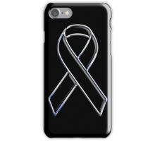 Black Ribbon Awareness iPhone Case/Skin