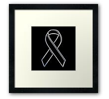 Black Ribbon Awareness Framed Print