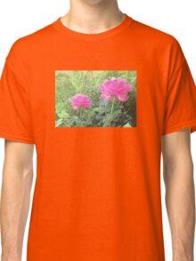 Vintage Photo Pink Rose Garden Classic T-Shirt